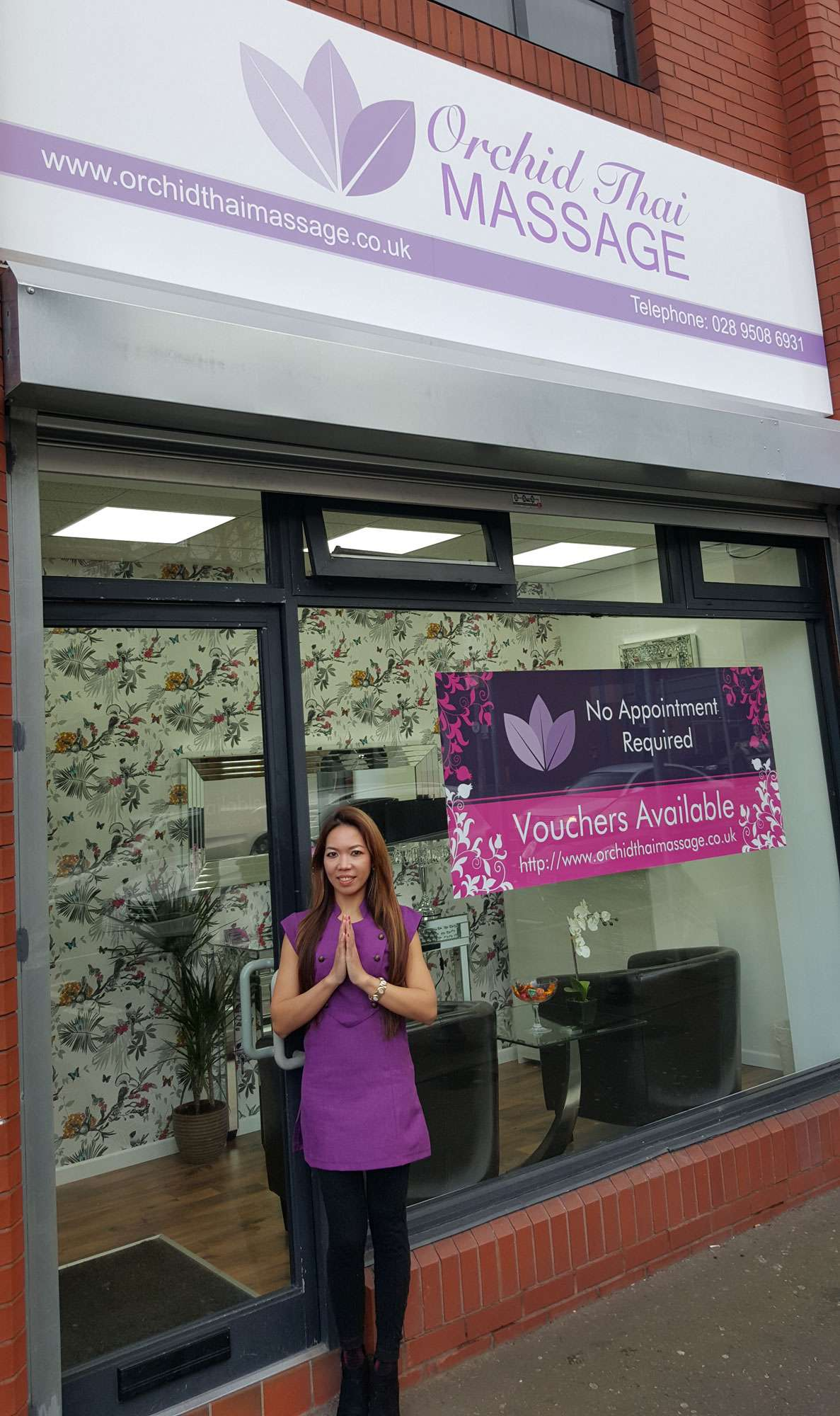 Great Victoria Street Shop Front Orchid Thai Massage